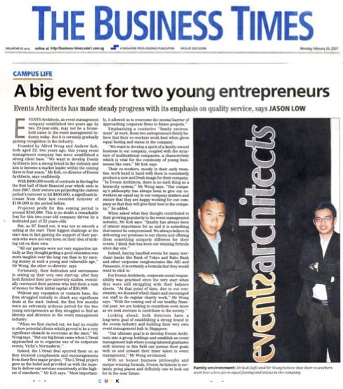 2 entrepreneurs in the news
